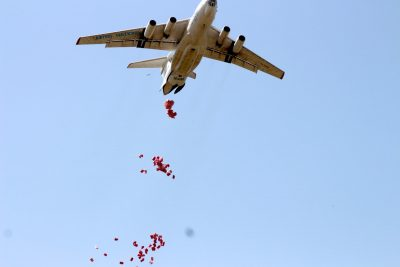 WFP Plane Dropping Food in Oriny Fashoda County, Upper Nile State