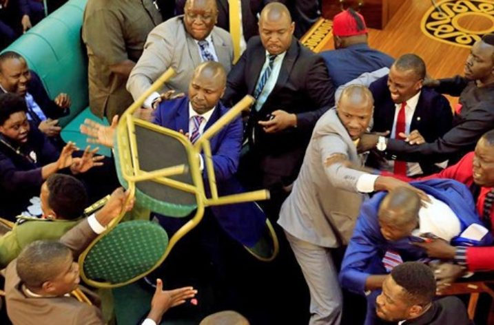 Ugandan MPs brawl in Parliament as attempts are made to pass controversial Bill