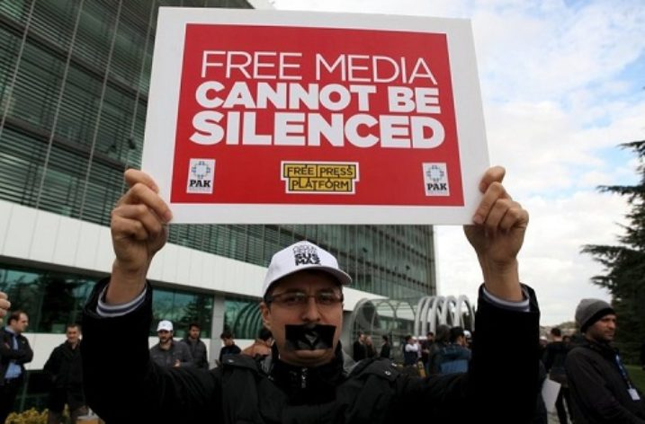 Call for release of staff following police raid on newspaper's offices in Turkey