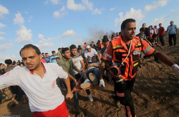 Two children killed, 120 Palestinians injured at Demonstrations in Gaza